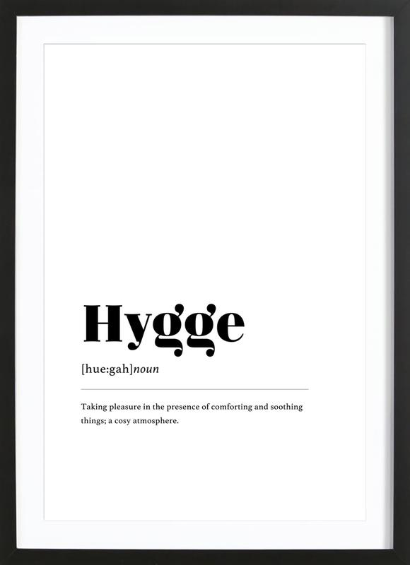 Hygge affiche sous cadre en bois