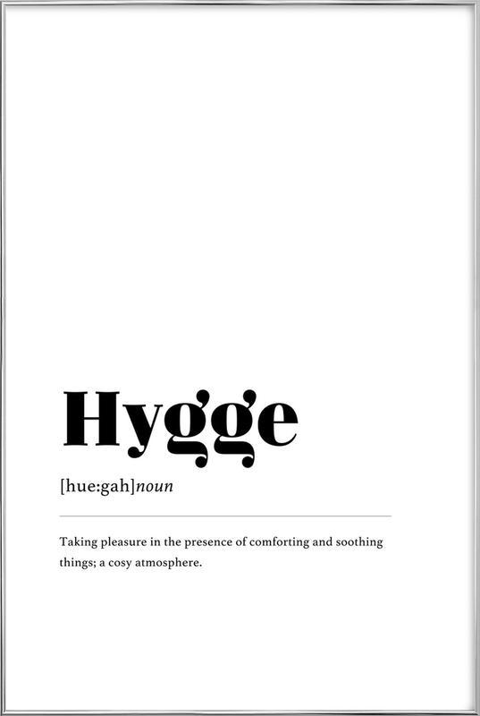 Hygge affiche sous cadre en aluminium