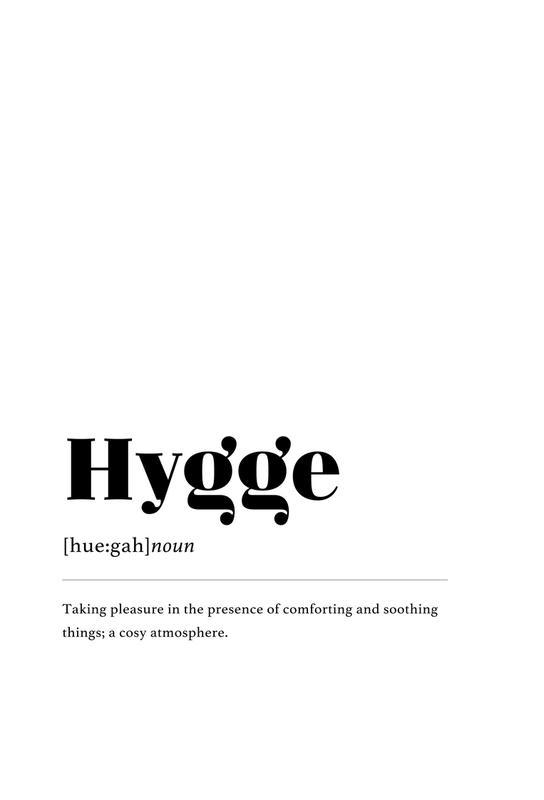 Hygge -Alubild