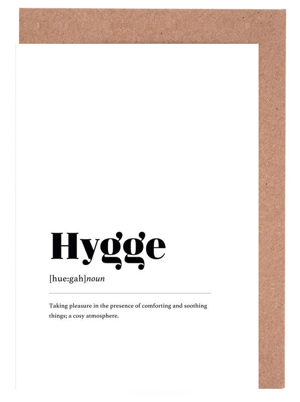 Schwarz & Weiß, Hygge -Grußkarten-Set