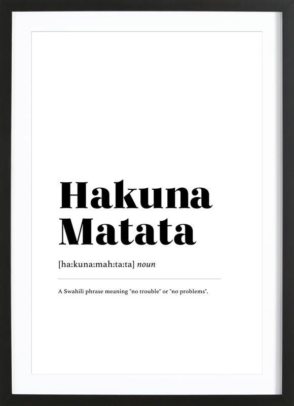 Hakuna Matata ingelijste print