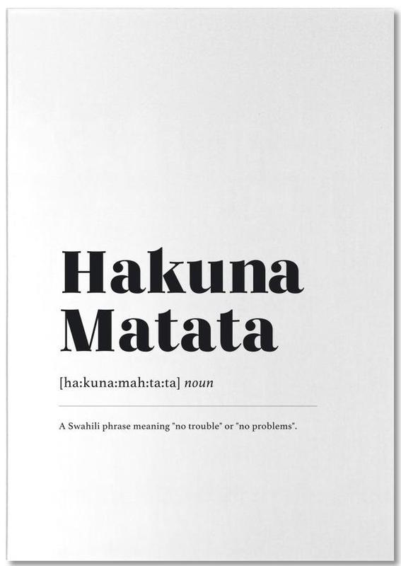 Hakuna Matata bloc-notes
