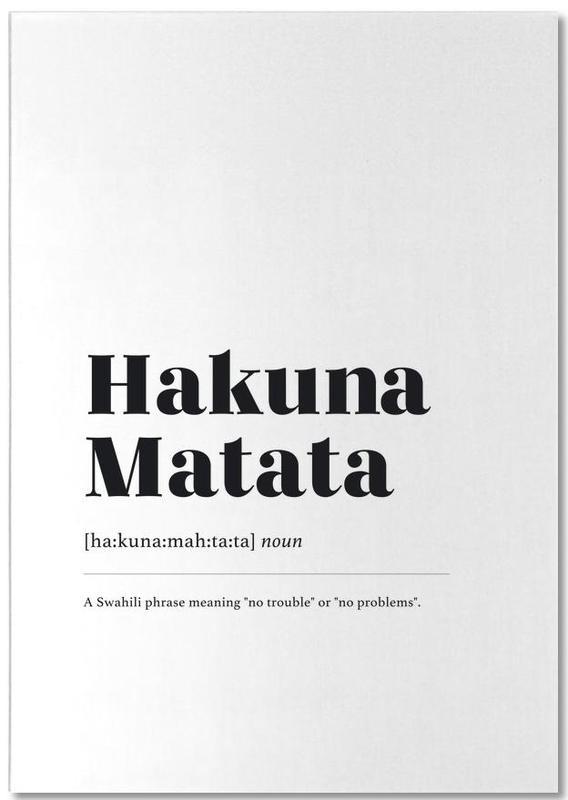 Schwarz & Weiß, Hakuna Matata -Notizblock