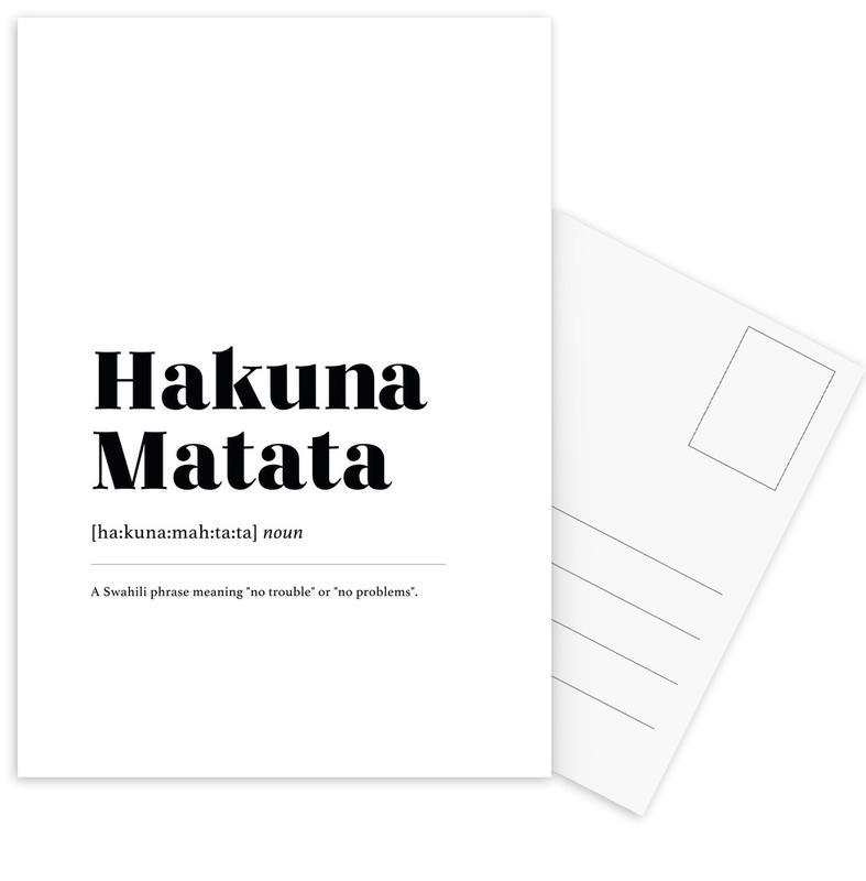 Hakuna Matata -Postkartenset