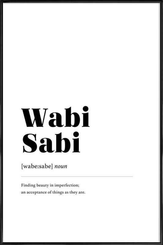 Wabi-Sabi Framed Poster