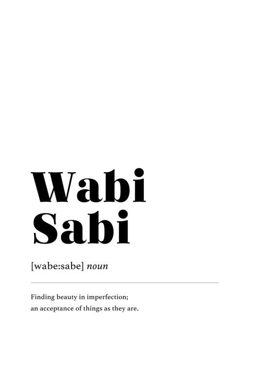 Wabi-Sabi acrylglas print
