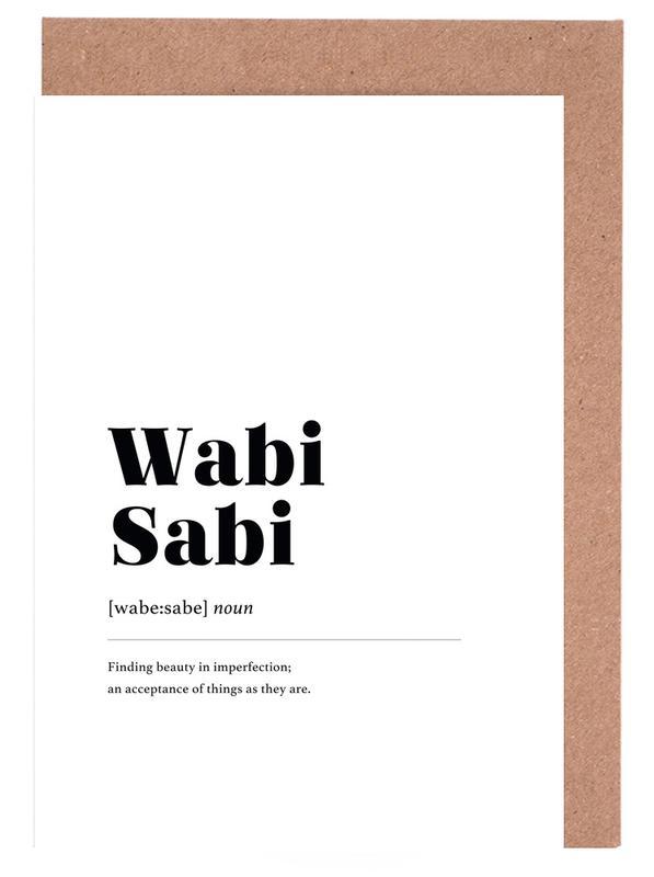 Wabi-Sabi -Grußkarten-Set