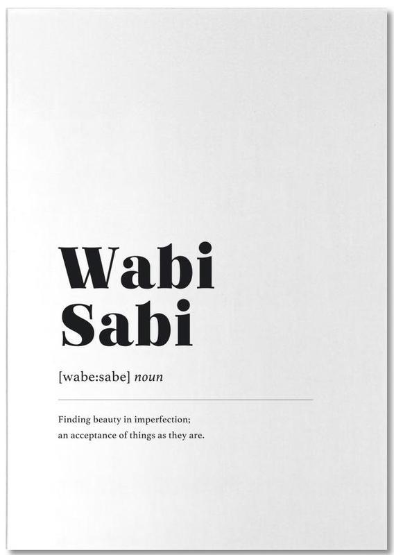 Schwarz & Weiß, Wabi-Sabi -Notizblock