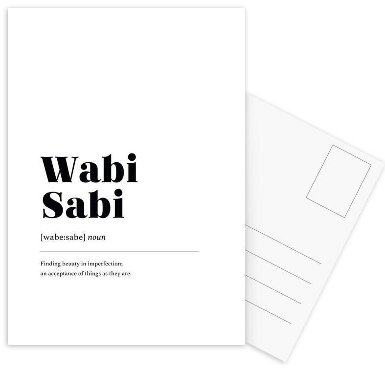 Wabi-Sabi cartes postales