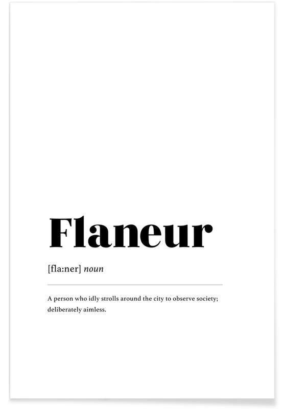Blanco y negro, Flaneur póster