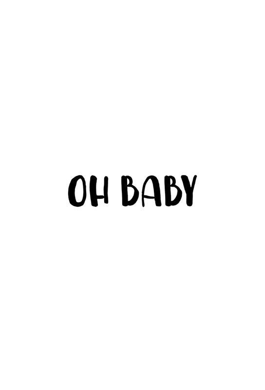 Oh Baby B&W tableau en verre
