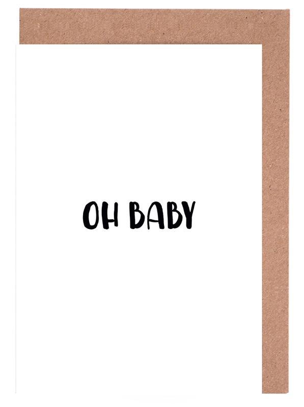 Oh Baby B&W -Grußkarten-Set