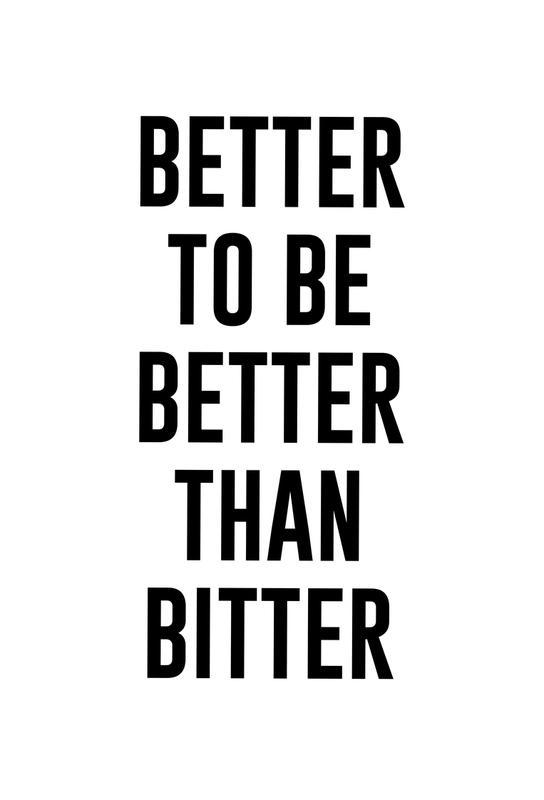 Be Better tableau en verre