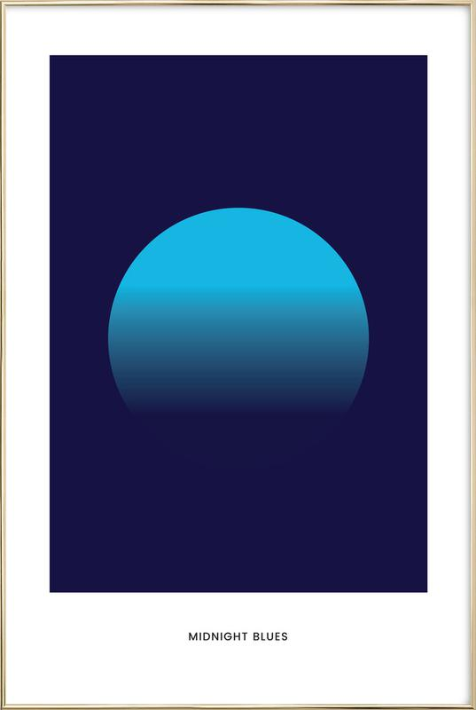 Midnight #5 -Poster im Alurahmen