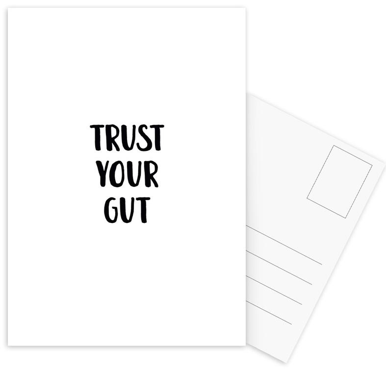 Trust Your Gut cartes postales