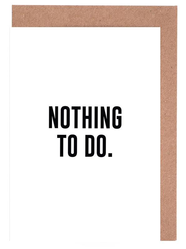 Nothing to Do cartes de vœux