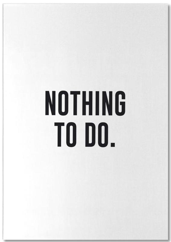 Nothing to Do -Notizblock