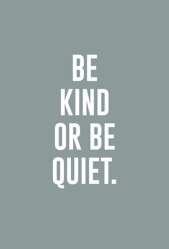 Be Kind -Alubild