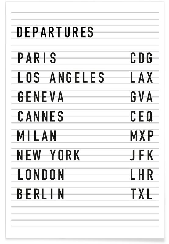 Departure Paris poster