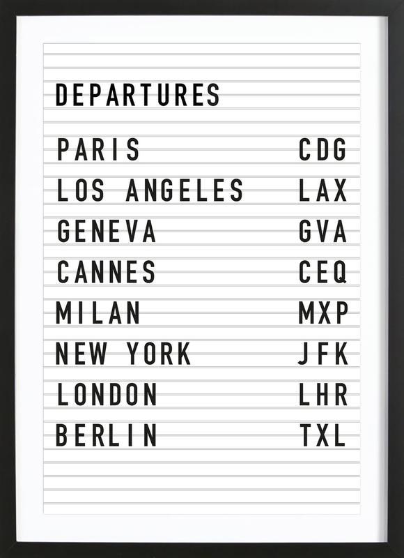 Departure Paris poster con marco