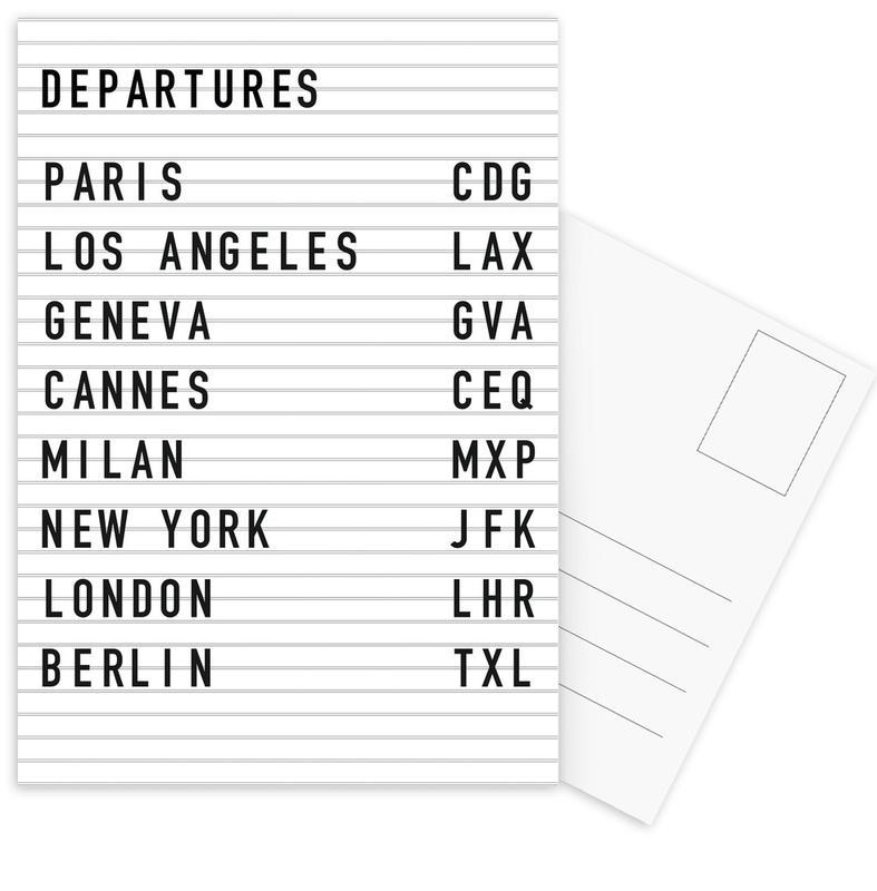 Departure Paris cartes postales