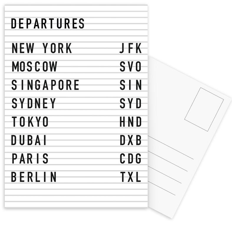 Departure New York Postcard Set