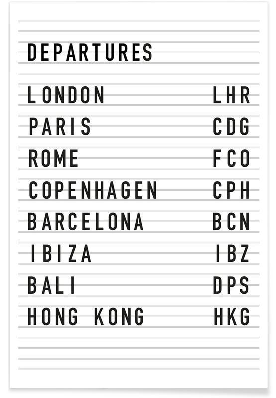 Departure London poster