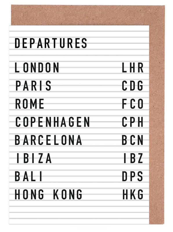 Departure London cartes de vœux