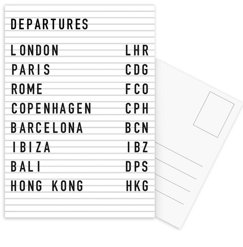 Departure London Postcard Set