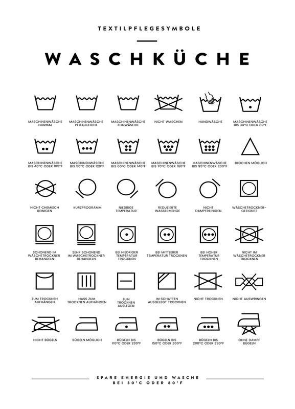 Wäsche Canvastavla