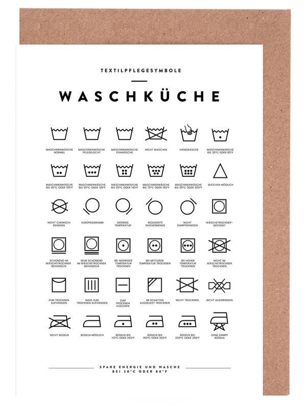 Wäsche -Grußkarten-Set