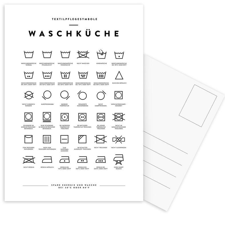 Wäsche -Postkartenset