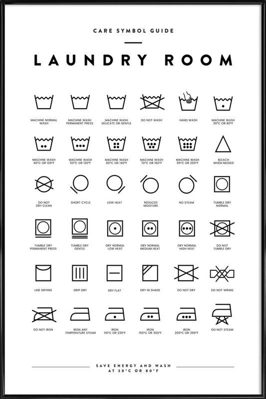 Laundry Poster i standardram