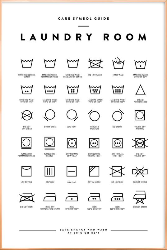 Laundry Poster in Aluminium Frame