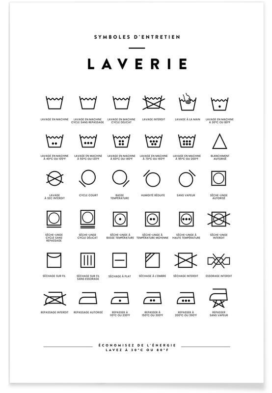 Sort & hvidt, Laverie Plakat