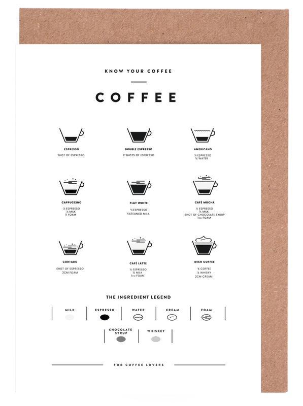Coffee Chart Greeting Card Set