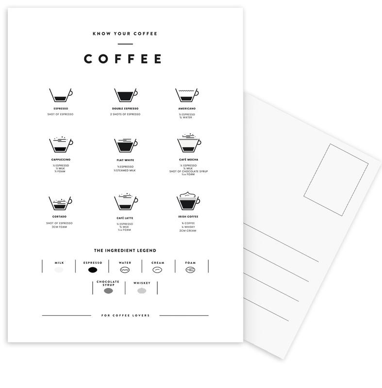 Coffee Chart -Postkartenset