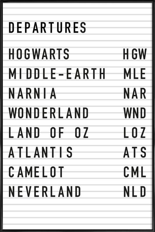Fantasy Destinations poster con cornice