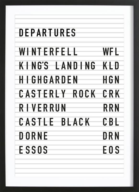 Game of Thrones Destinations ingelijste print