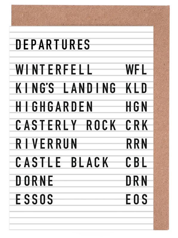 Game of Thrones Destinations -Grußkarten-Set