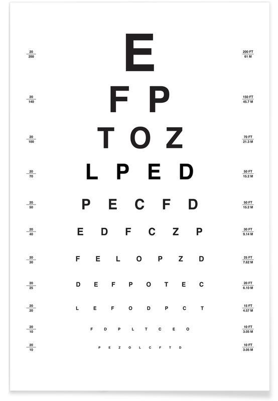 Sort & hvidt, Øjediagram Plakat