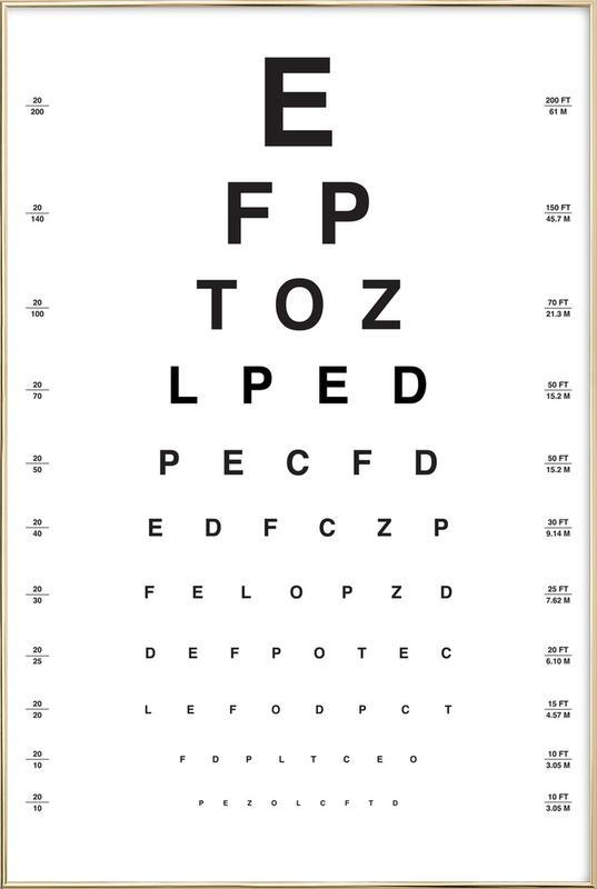 Eye Chart affiche sous cadre en aluminium