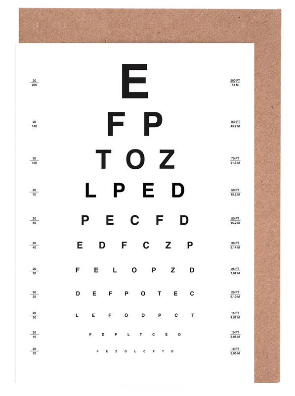 Eye Chart cartes de vœux