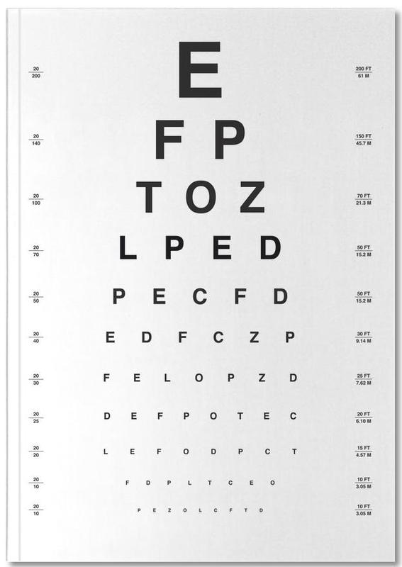 Eye Chart Notebook