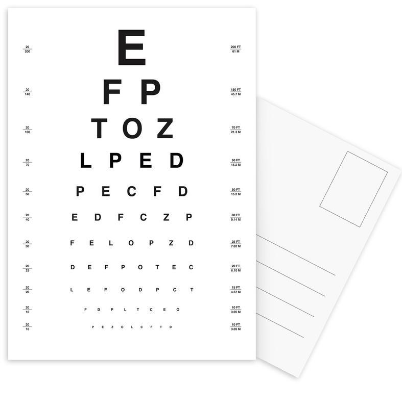 Eye Chart cartes postales