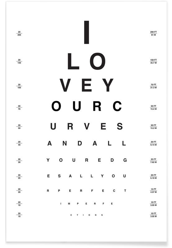 Eye Chart I Love You Plakat