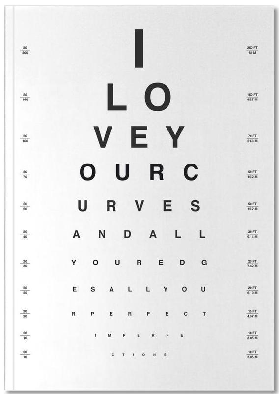 Eye Chart I Love You Notebook