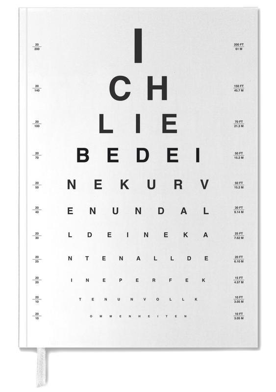 Eye Chart Ich Liebe Dich -Terminplaner
