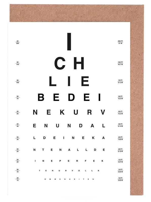Eye Chart Ich Liebe Dich -Grußkarten-Set