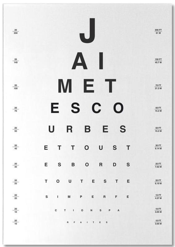 Eye Chart Je t'aime bloc-notes